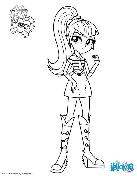 My Little Pony Doll Coloring Pages | sonata dusk coloring page coloring pages t
