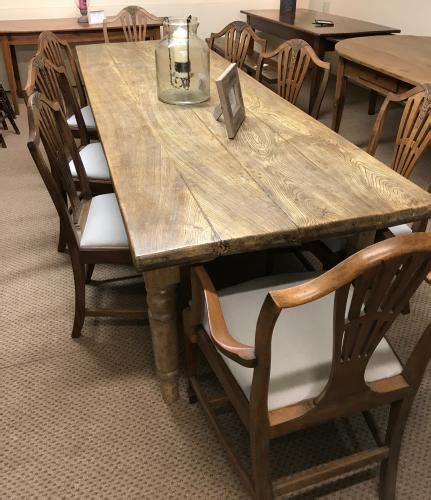 Antique Dining Tables Uk 8ft Stunning Antique Elm 4 Plank Table With Legs
