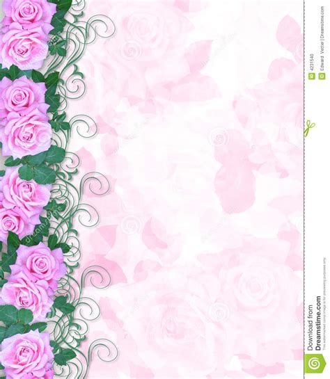 wedding invitations with pink roses wedding invitation pink roses stock photo image 4231540