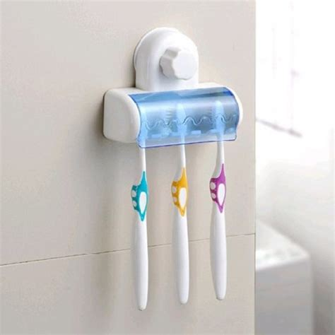 Stylish bathroom decor wall mounted toothbrush holder