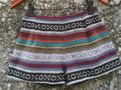 bohemian boho chic tribal trendy clothing aztec fuzzy slouchy tribal print shorts boho chic fashion woven ikat aztec