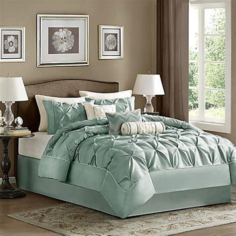 buy madison park laurel 7 piece full comforter set in blue