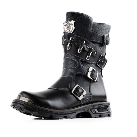 best black boots mens winter mens boots fashion new leather boots martin