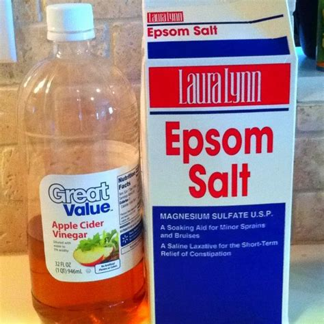 Does Epsom Salt Detox Work by Diy Foot Softening Use 1c Apple Cider Vinegar With 1c