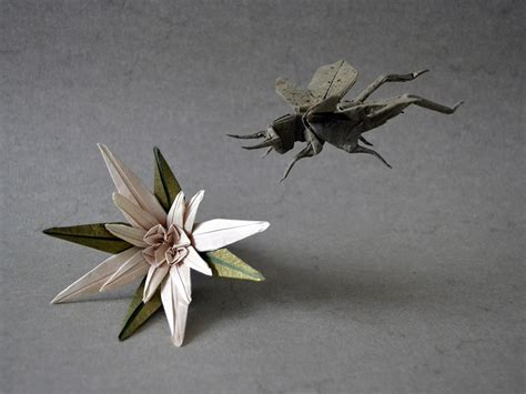 Origami Grasshopper - i c ant believe how complex and realistic these origami