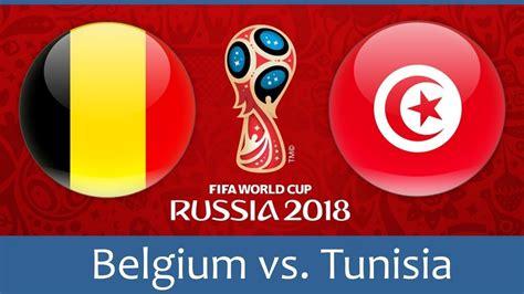 belgium vs tunisia 2018 fifa world cup russia pes