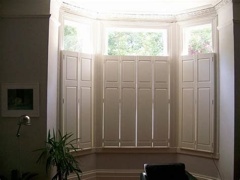 solid panel interior window shutters bay window shutters effective sun and privacy protection