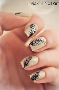 feather nail art by vickih on deviantart