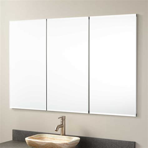 recessed bathroom mirror 48 quot furview recessed mount medicine cabinet medicine