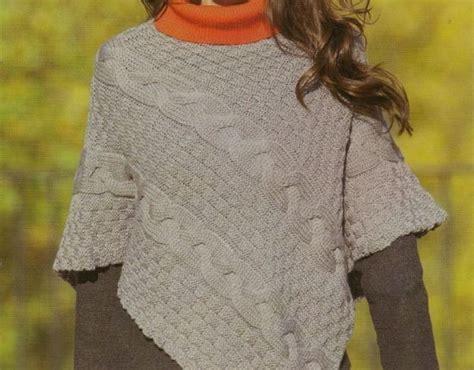 Pattern Maglia Ai Ferri | poncho a maglia foto e modelli poncho punto treccione