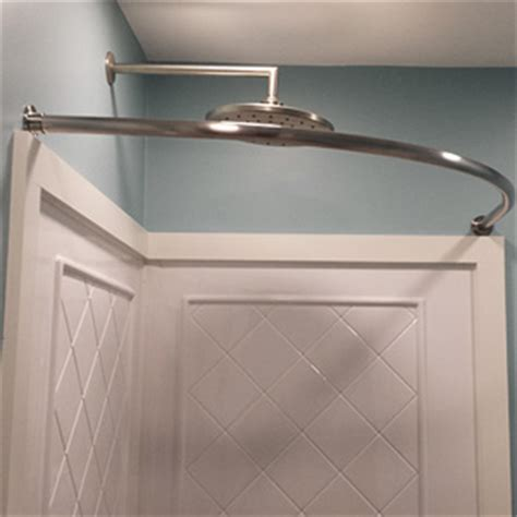 round corner shower curtain rod neo round shower rod