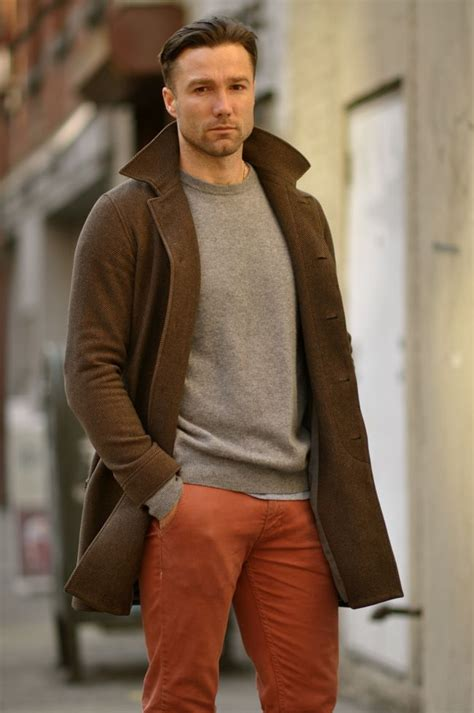 fashion tips for 36 year old man nice use of orange pants clothes pinterest pantalons