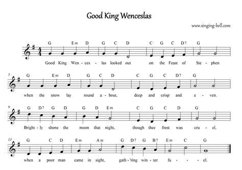 christmas carol lyrics good king wenceslas ichild free christmas carols gt good king wenceslas free mp3