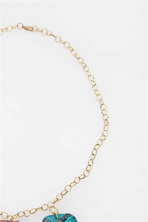 Kalung Rainbow Necklace three tiered necklace dari ego kalung dengan rantai warna