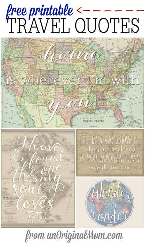 printable travel quotes free printable travel quotes unoriginal mom
