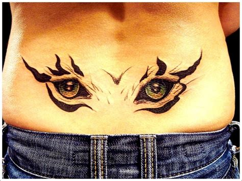 tattoo back eyes attractive eyes tattoo on lower back