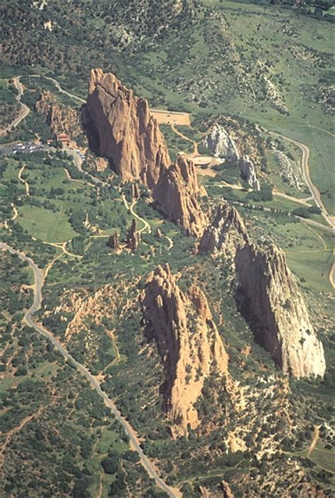 Usps Garden Of The Gods Airphoto Aerial Photograph Of Garden Of The Gods El