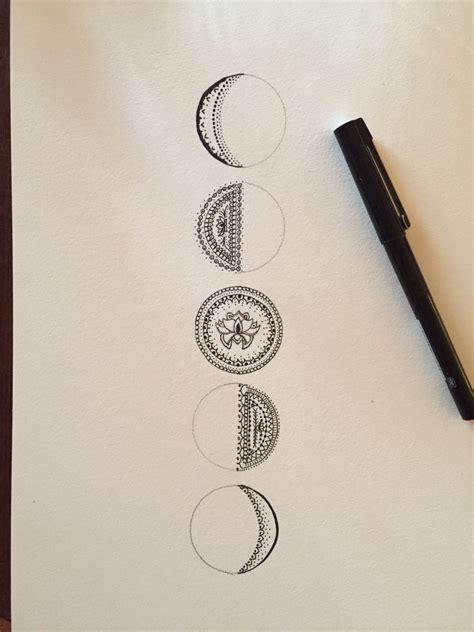 mandala moon tattoo resultado de imagen para moon fase tattoos