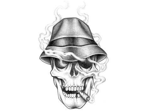 skull with hat tattoo designs design wallpapers wallpaper cave