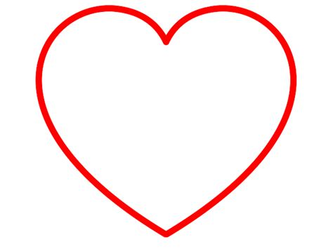 printable red heart shapes clip art heart shape clipart best