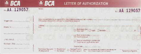 Contoh Letter Of Credit Bank Bca Brittania Quintin Mencairkan Letter Of Authorization