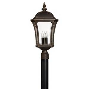 post outdoor lighting buy the wabash large outdoor post by hinkley lighting