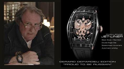 gerard depardieu the patriot quot fier d 234 tre russe quot depardieu fait la pub d une montre
