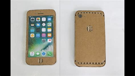 How To Make A Paper Iphone - how to make a iphone with cardboard diy apple iphone