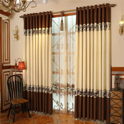 pale yellow drapes coffee and pale yellow curtains belong to elegant style