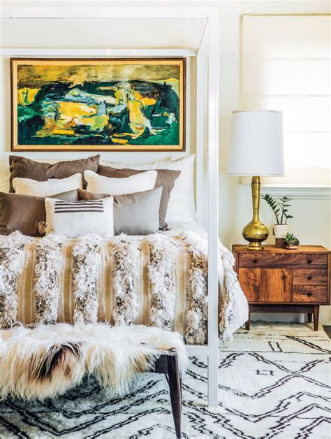 eclectic home with boho glam style