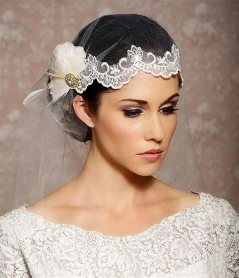 Feather Wedding Veil white lace wedding veil juliet cap lace headpiece
