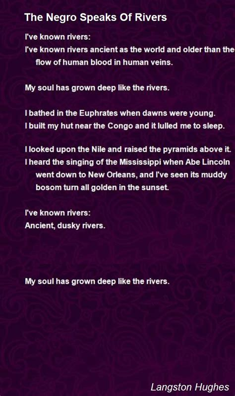 poem images the negro speaks of rivers www pixshark images