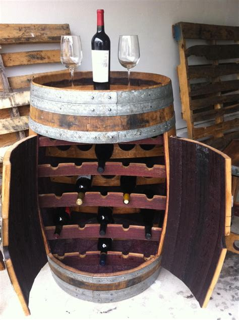 Wine Rack Barrel by Wine Barrel Wine Rack Traditional Furniture Orange