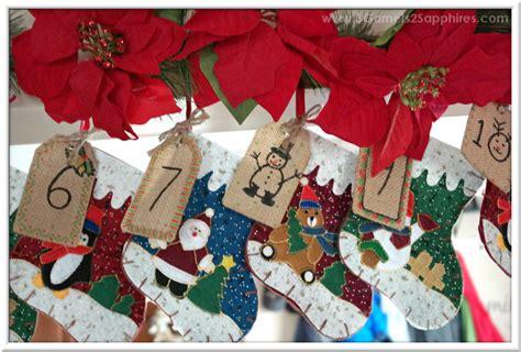 easy to make advent calendar 3 garnets 2 sapphires easy diy advent calendar to make