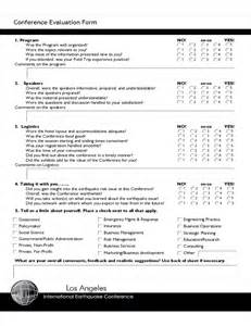 evaluation form templates free conference evaluation form sle free