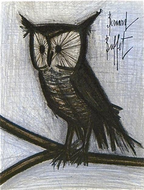 bernard buffet mass market art little owl ski