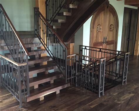 custom banisters modern log cabin custom railing and custom pot rack