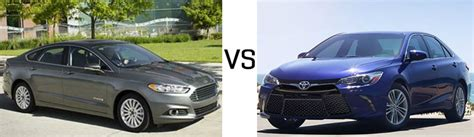 Ford Fusion Compared To Toyota Camry Compare Ford Fusion And Camry Hybrid