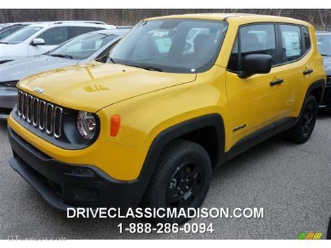 yellow jeep interior 2015 solar yellow jeep renegade sport 4x4 102884774 photo