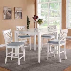 White Counter Height Dining Table And Chairs Standard Furniture 5 Counter Height Dining