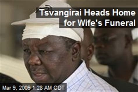 Heads Home For Funeral tsvangirai news stories about tsvangirai