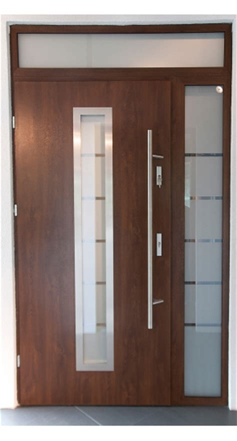 contemporary front doors with sidelights quot madrid quot stainless steel exterior door with sidelights
