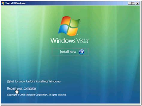 windows vista boots to a black screen with only the mouse
