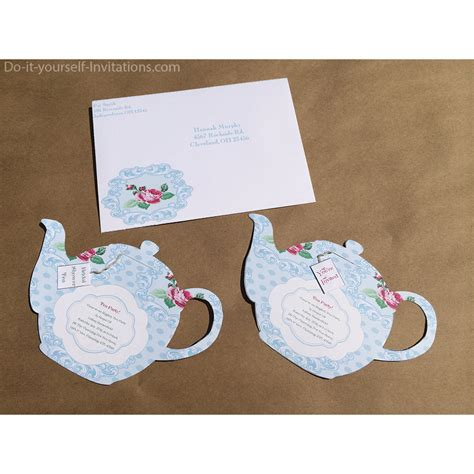Printable Tea Party Invitations Template Mickey Mouse Invitations Templates Teacup Invitations Template