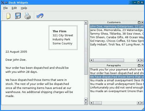 qt layout name dock widgets exle qt widgets 5 10