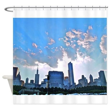skyline shower curtain chicago skyline shower curtain by glideobellart1