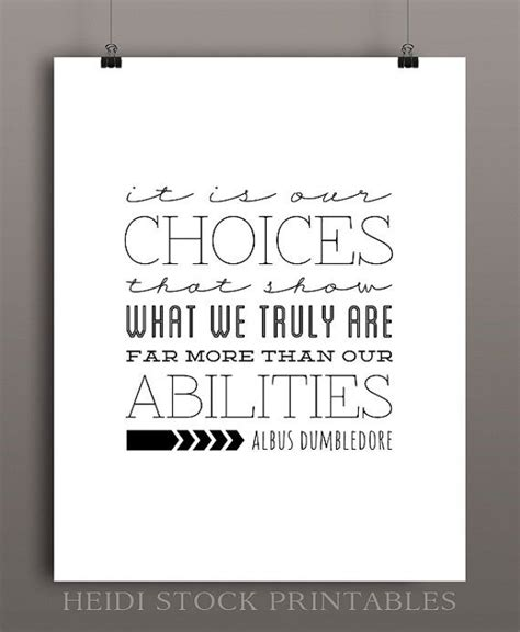 printable dumbledore quotes choices albus dumbledore quote from harry potter and the