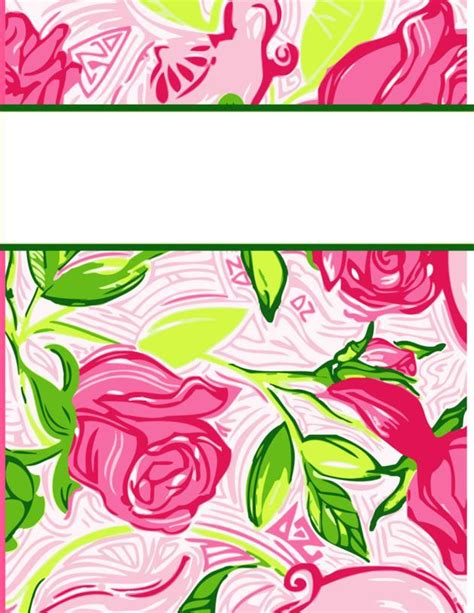 printable lilly binder covers my cute binder covers happily hope