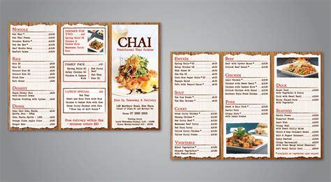 design takeaway menu online brochure design design for chai thai a company in