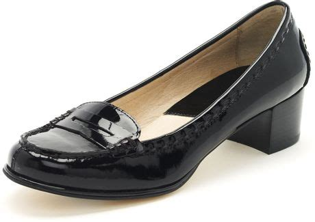 michael kors bayville loafers michael kors michael bayville low heel loafer in black lyst